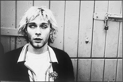 """Cobain en una imagen del libro 'Rock & Roll Babilonia"""""""